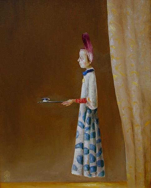 Character with Cup, 2004 - Штефан Кюлтиа