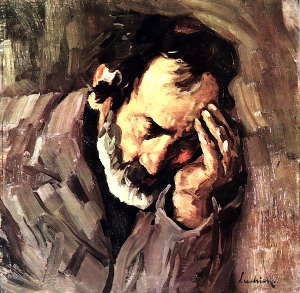 Old Man Nicolae the Fiddler, 1906 - Stefan Luchian