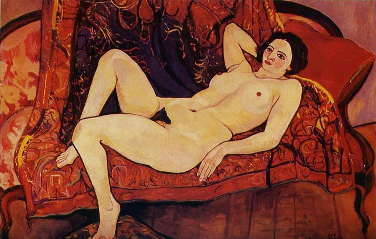Nude on the sofa, 1920 - Suzanne Valadon