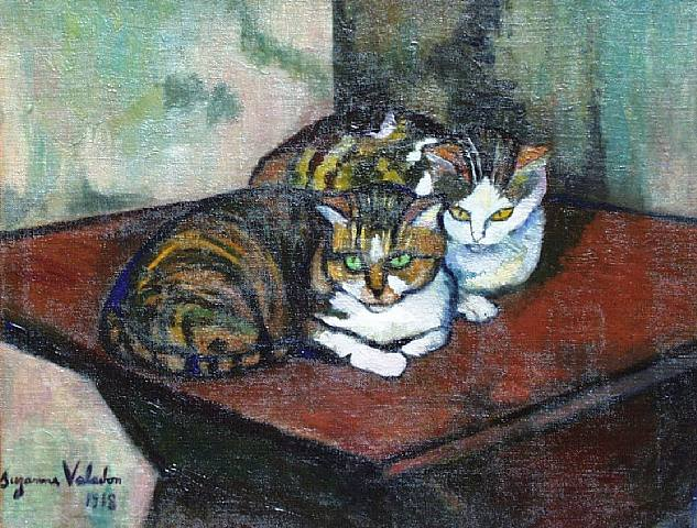 Two cats, 1918 - Suzanne Valadon