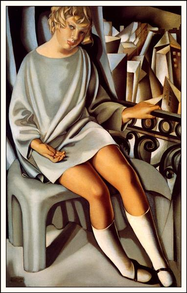 Kizette On The Balcony - Tamara de Lempicka