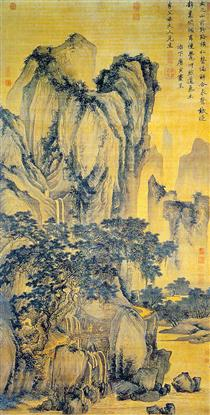 Sound of Pines on a Mountain Path - Tang Yin