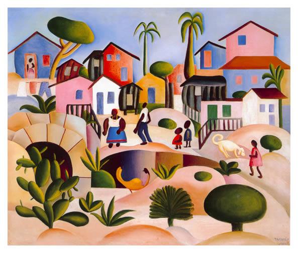 Morro da favela, 1924 - Tarsila do Amaral
