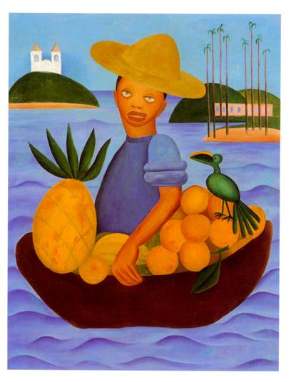 O Vendedor de Frutas - Tarsila do Amaral
