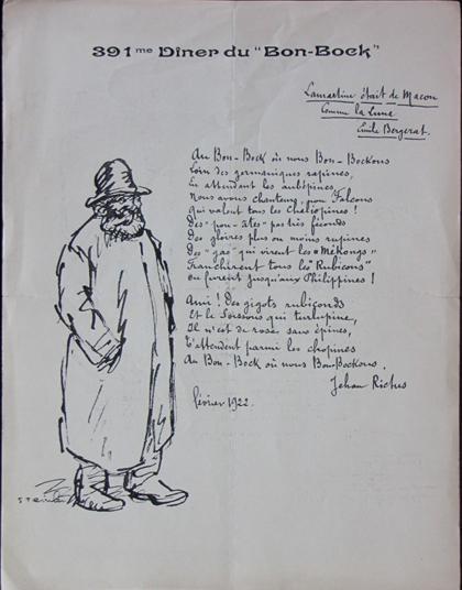 Bon-Bock Diner, 1922 - Théophile Alexandre Steinlen