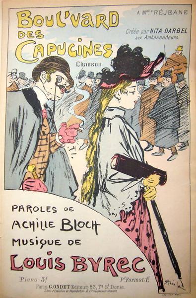 Boul'vard Des Capucines, 1893 - Theophile Steinlen