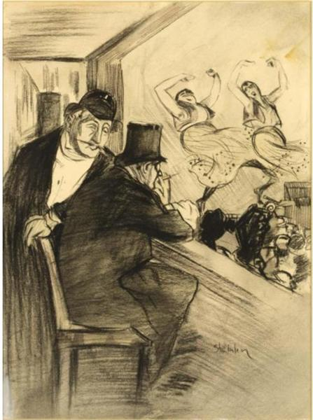 Ces Dames Lafforest  Original drawing - Theophile Steinlen