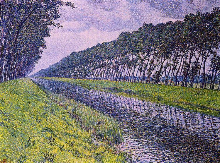 Canal in Flanders, 1894 - Theo van Rysselberghe
