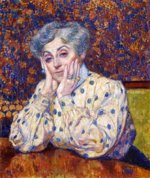 Madame Theo van Rysselberghe, 1907 - Тео ван Ріссельберг