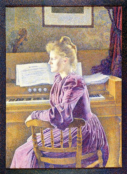 Maria Sethe at the Harmonium, 1891 - Theo van Rysselberghe