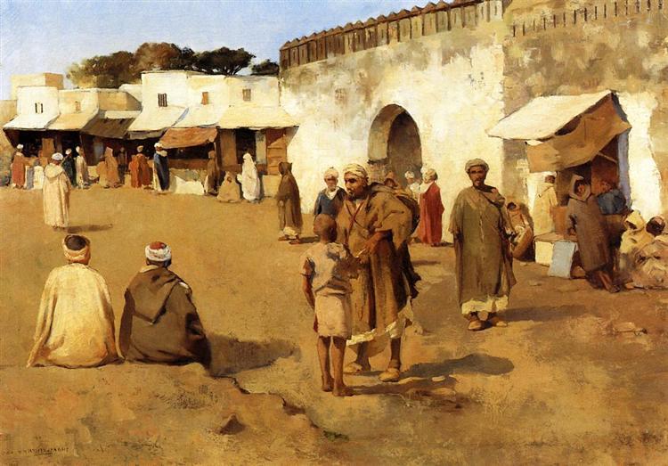 Moroccan Market, c.1883 - Theo van Rysselberghe