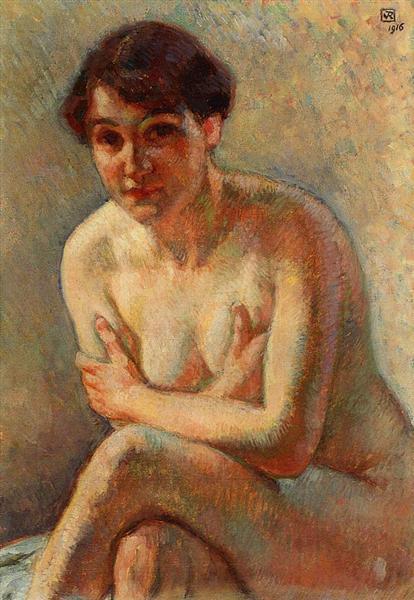 Nude Woman, 1916 - Theo van Rysselberghe