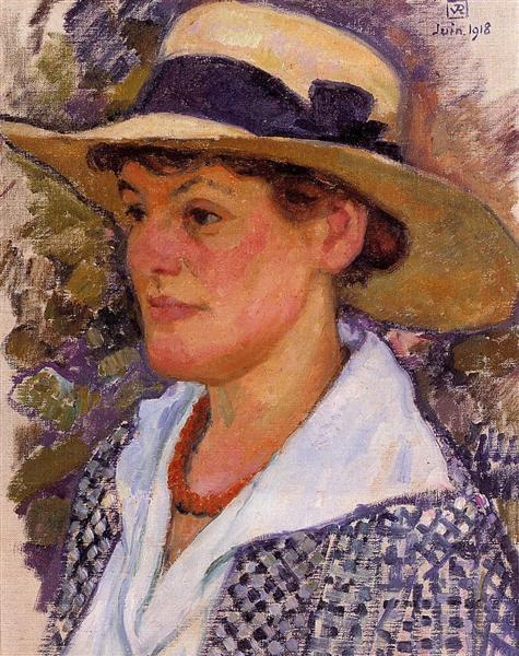 Portrait of a Woman, 1918 - Theo van Rysselberghe