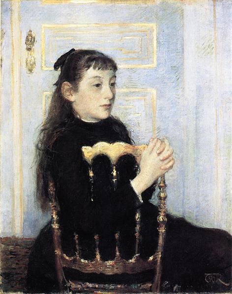 Portrait of Camille van Mons, 1886 - Theo van Rysselberghe