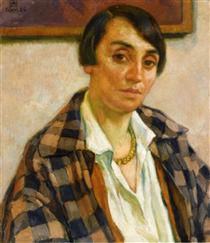 Portrait of Elizabeth van Rysselberghe - Théo van Rysselberghe