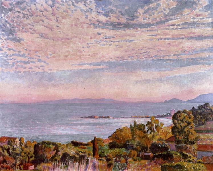 The Bay of St. Clair, 1923 - Théo van Rysselberghe