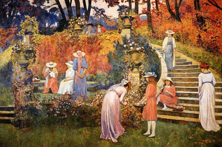 The Garden of Felicien Rops at Essone, 1910 - Theo van Rysselberghe