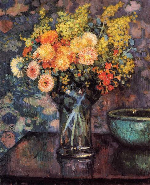 Vase of Flowers, c.1911 - Theo van Rysselberghe