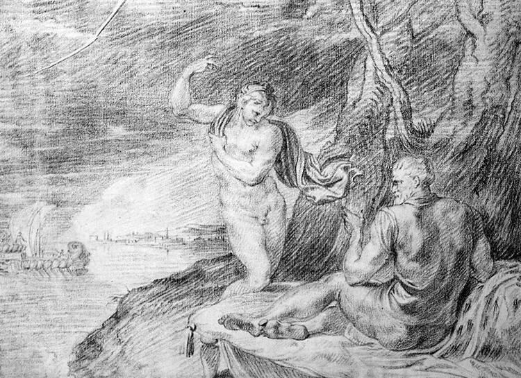 Minerva and Odysseus at Telemachus - Theodoor van Thulden