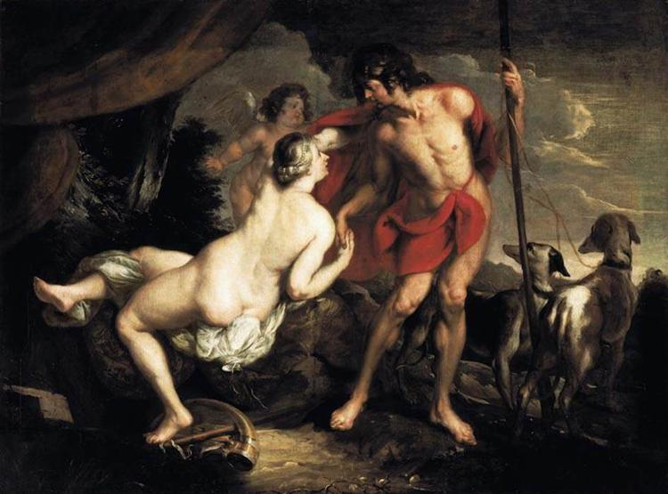 Venus and Adonis - Theodoor van Thulden