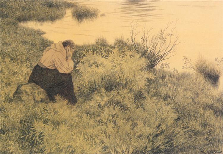 Me, me, me, me they will lead far away from the country, 1900 - Theodor Severin Kittelsen