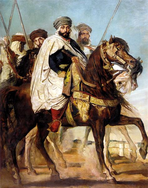 Ali Ben-Hamet, Caliph of Constantine and Chief of the Haractas, Followed by his Escort, 1845 - Theodore Chasseriau