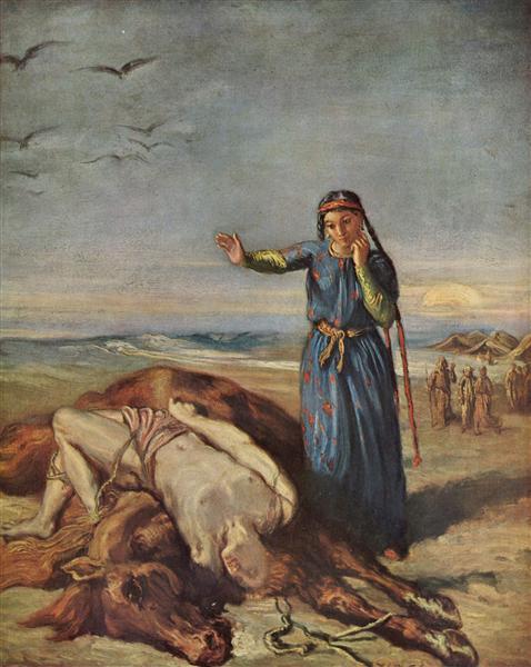 Cossack girl at Mazeppa 's body, 1851 - Theodore Chasseriau