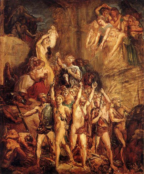 Defense of the Gauls, 1855 - Theodore Chasseriau