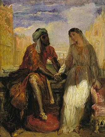 Othello and Desdemona in Venice, 1850 - Teodoro Chassériau