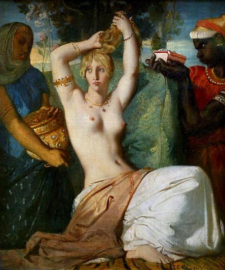 The Toilette of Esther, 1841 - Theodore Chasseriau
