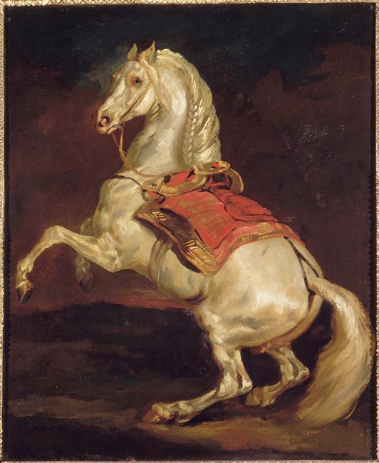 Napoleon's Stallion, Tamerlan - Theodore Gericault ...