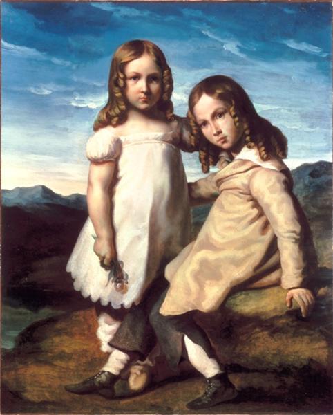Portraitof AlfredandElizabethDedreux, 1817 - 1819 - Théodore Géricault