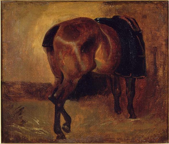 Study for Bay horse seen from behind - Théodore Géricault