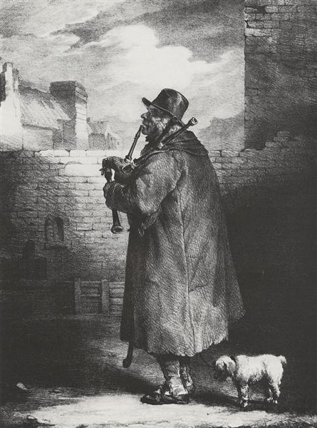 The Bagpipe player, 1821 - Théodore Géricault