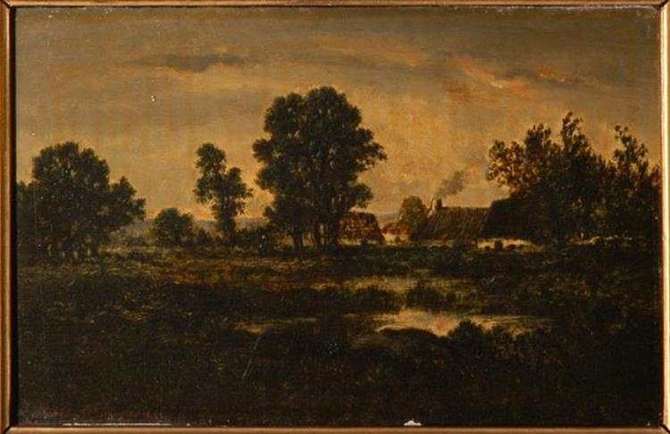 Normandy farms, 1867 - Theodore Rousseau