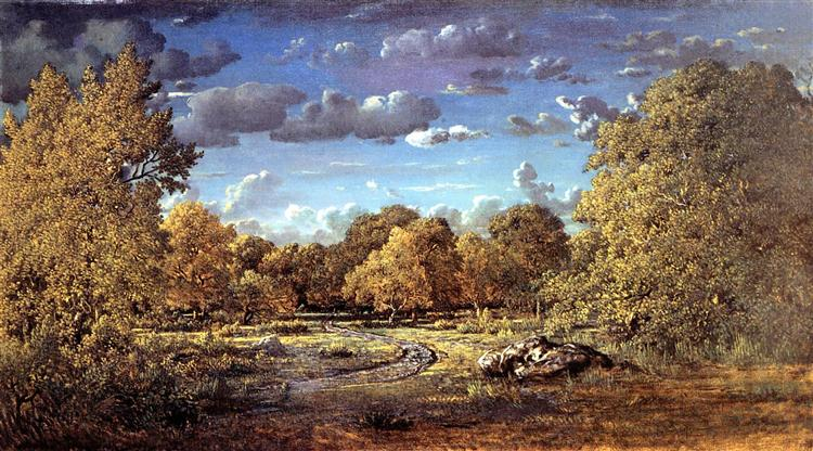Glade of the Reine Blanche in the Fontainebleau Forest, 1860 - Theodore Rousseau