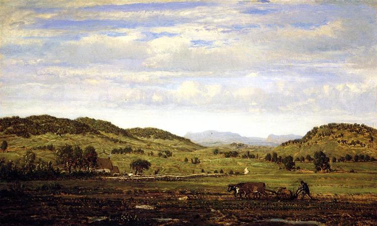 Landscape of Jura Arbois, c.1861 - Theodore Rousseau
