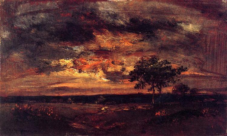 Twilight Landscape, 1850 - Théodore Rousseau