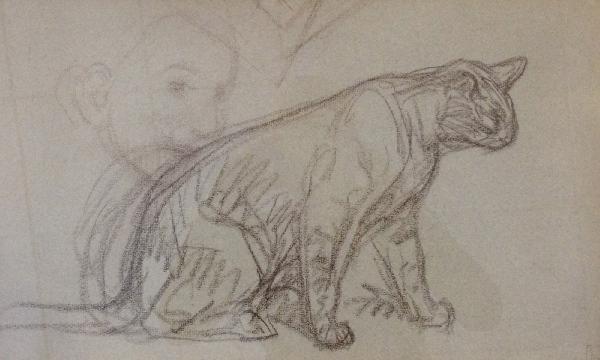 Cat sketch - Теофіль Стейнлен