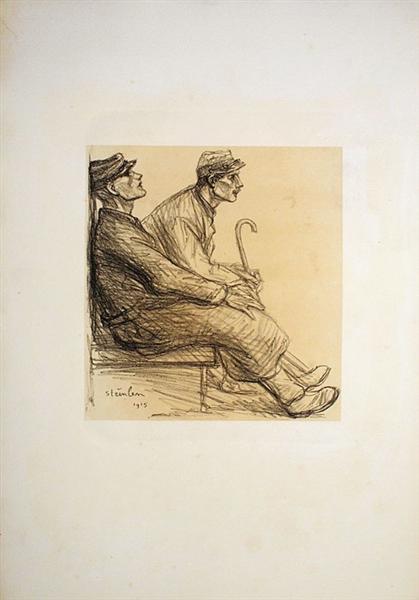 Convalescents, 1915 - Theophile Steinlen