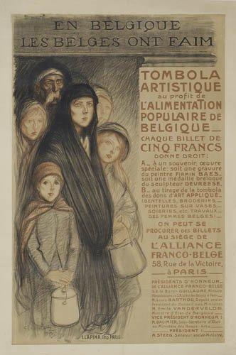 En Belgiques Les Belges Ont Faim, 1915 - Theophile Steinlen
