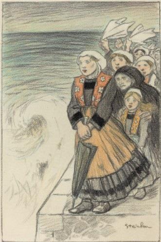 En Partance - Original drawing - Theophile Steinlen