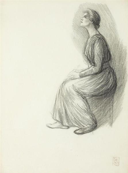 Jeune Femme Assise - Theophile Steinlen