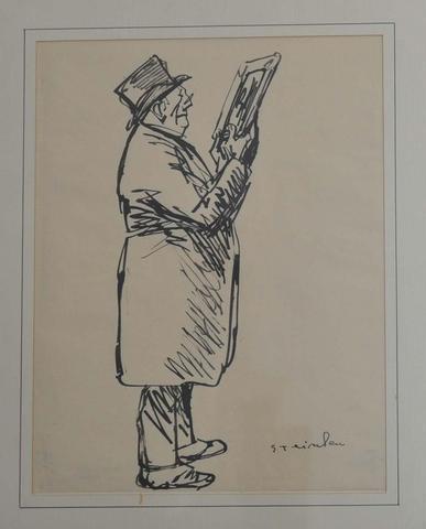 L'Amateur de dessin - Theophile Steinlen