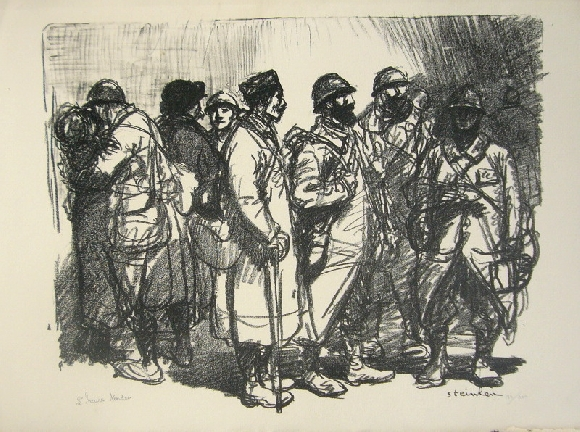 L'Heure Tendre, 1916 - Théophile-Alexandre Steinlen