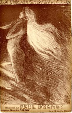 La Fee Aux Cheveux D'Or, 1897 - Theophile Steinlen