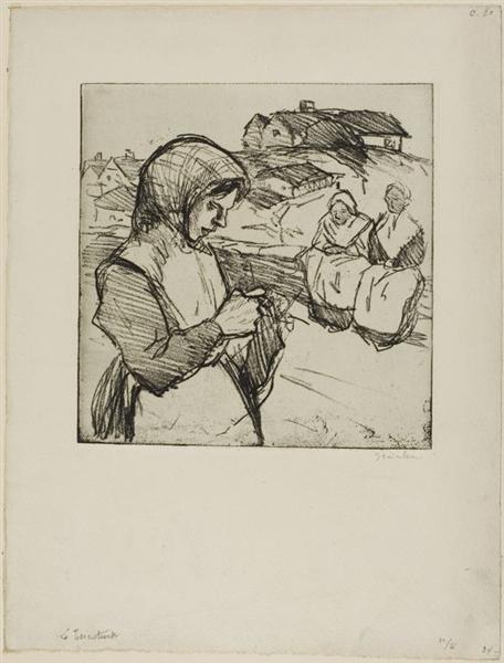 La Tricoteuse, 1902 - Theophile Steinlen