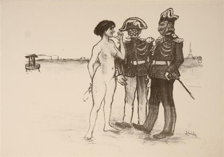 La Verite Et Les Deux Gendarmes, 1891 - Theophile Steinlen