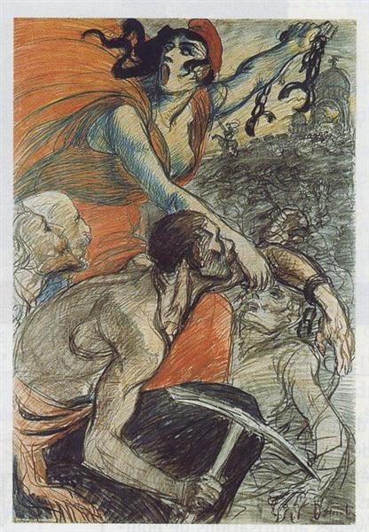 Laliberatrice, 1901 - Theophile Steinlen