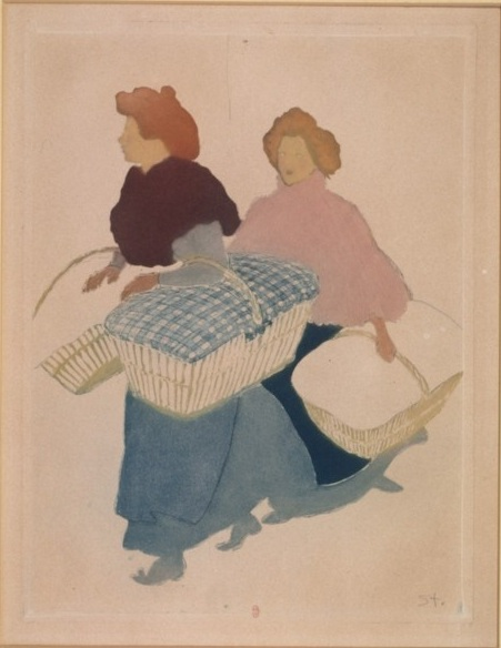 Laundresses are carrying linnen, 1898 - Theophile Steinlen